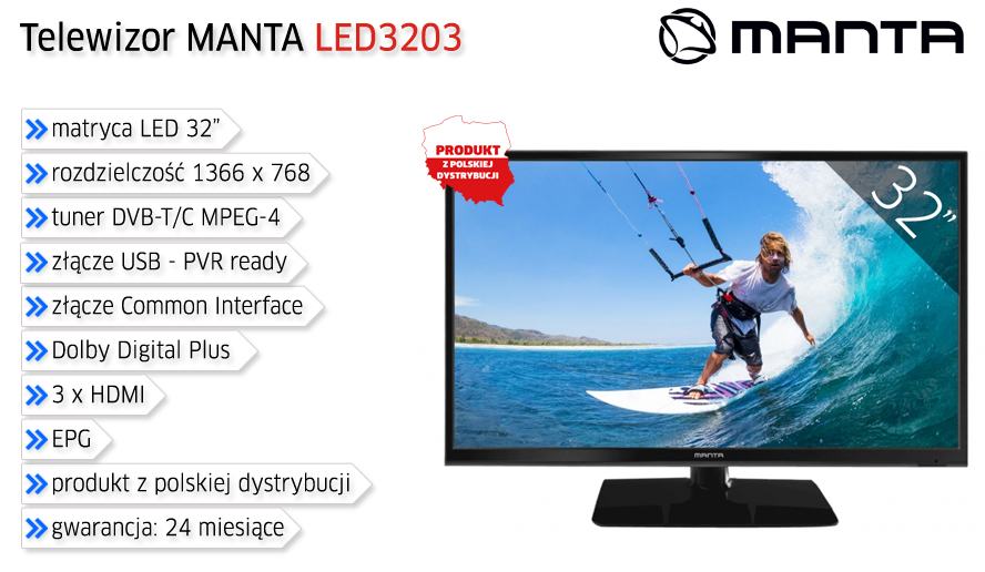 Manta Multimedia LED3204 w Morelenet